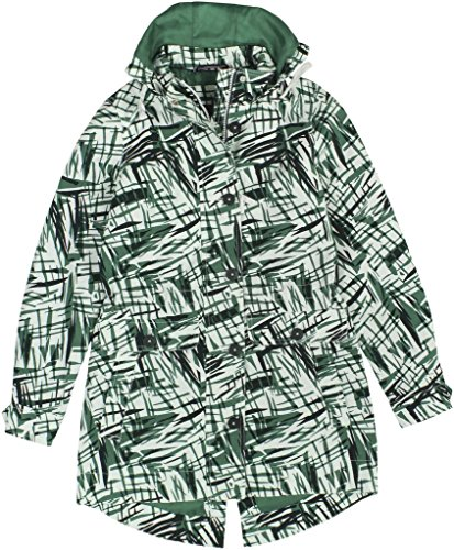 Tommy Hilfiger Women's Printed Hooded Parka Medium Multi Green by Tommy Hilfiger