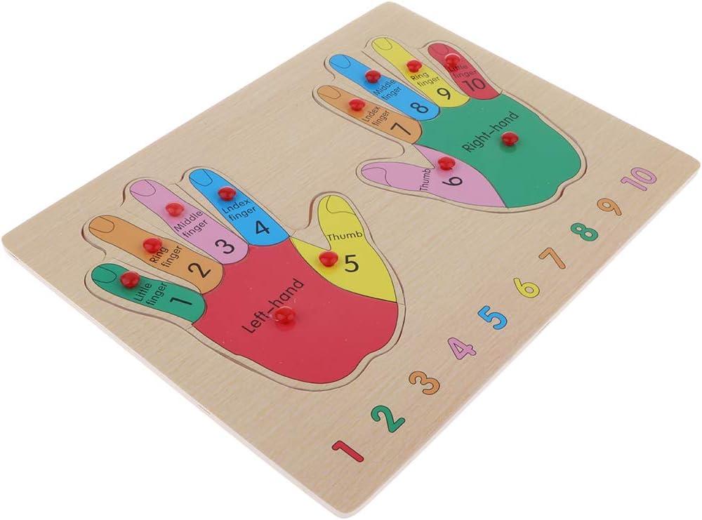 Sharplace Puzzle di Legno della Mano di Cognizione del Bambino del Giocattolo di Legno Educativo in Anticipo in Anticipo dei Bambini
