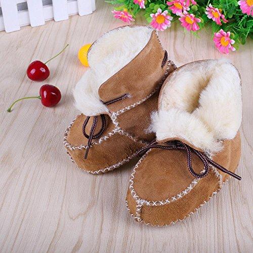 Ittar Baby Boys Girls Boots Premium Soft Sole Warm Winter Infant Prewalker Toddler Snow Shoes 6-24 Month