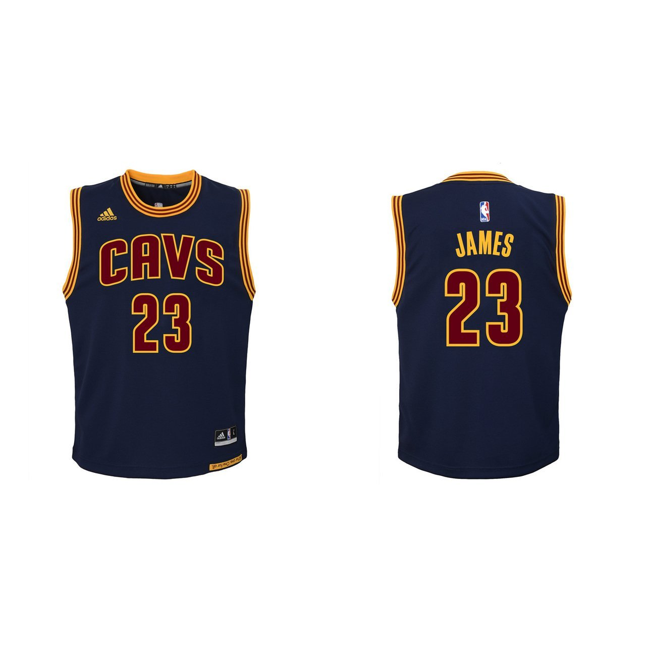 Amazon.com   adidas Cleveland Cavaliers Lebron James Youth 2nd Alternate Replica  Jersey-Blue (XL)   Sports   Outdoors c11dc106a