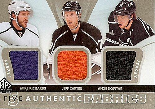 Hockey NHL 2012-13 SP Game Used Authentic Fabrics Fives #AF5-LAK Mike Richards/Jeff Carter/Anze Kopitar/Drew Doughty/Dustin Brown MEM Kings from SP