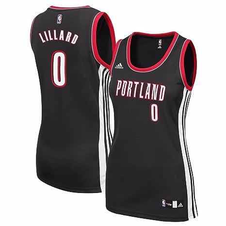 800beb34940 adidas Damian Lillard Portland Trail Blazers NBA Black Official Team Color  Road Away Replica Jersey for