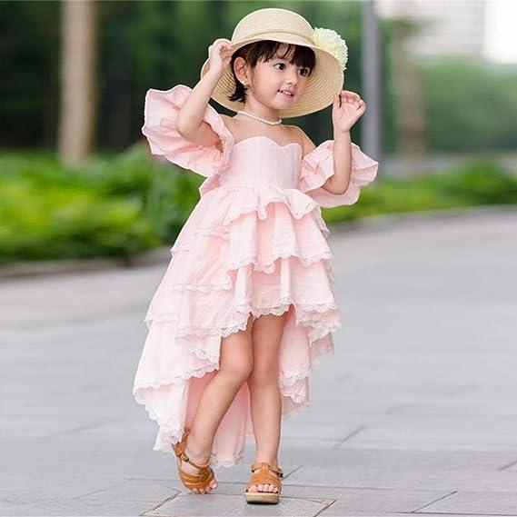 5781ebeb5 K-Youth® Ropa de Bebe Niña de Verano Vestido Niña Fiesta Sin Tirantes  Irregular Hemos Ropa de Niña a la Moda 2019 Elegante Vestidos de Princesa  para Boda ...