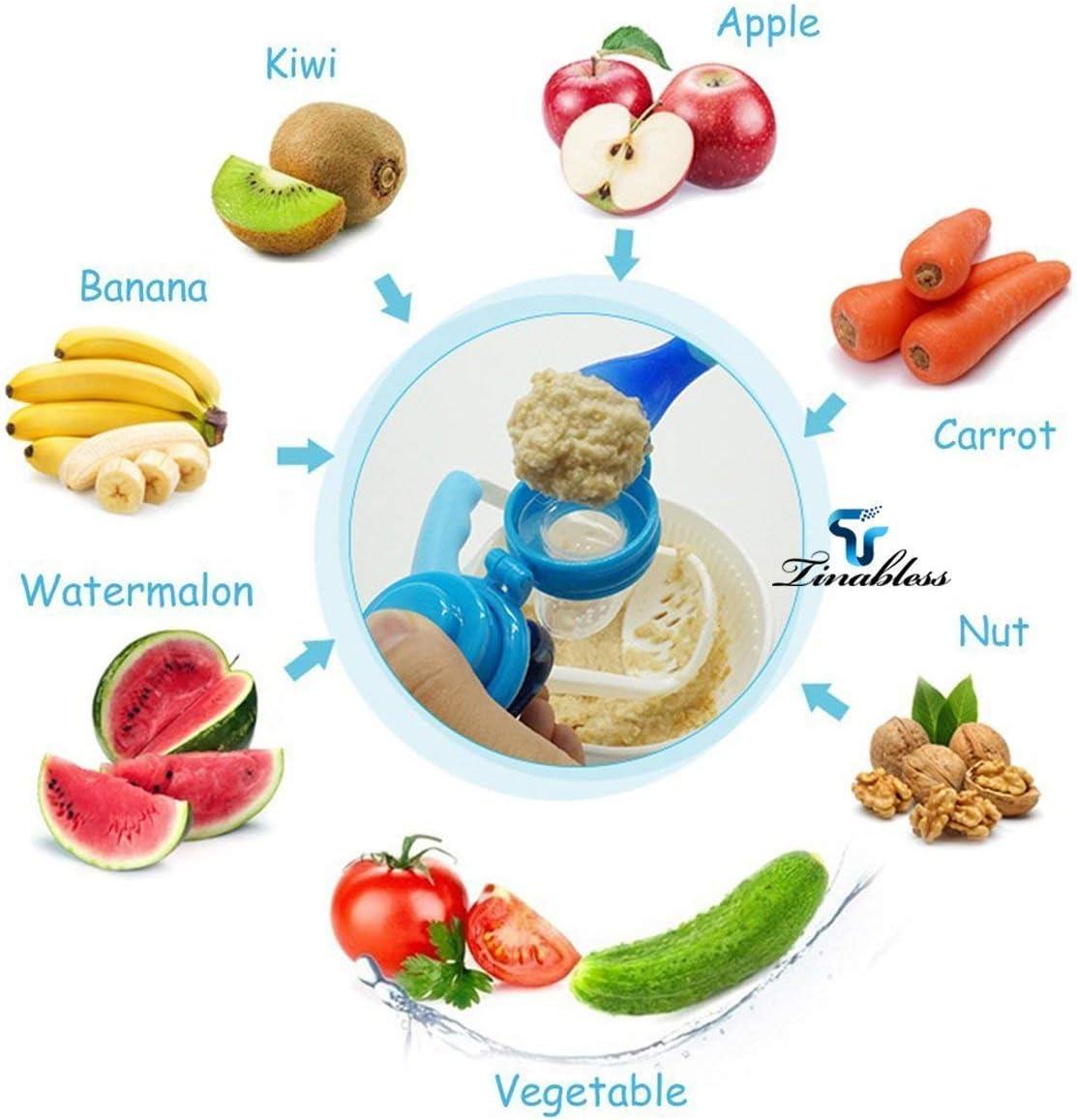 chupete de verduras chupete de silicona para alimentos 3 unidades Chupete de Faneli chupete con cadena para chupete