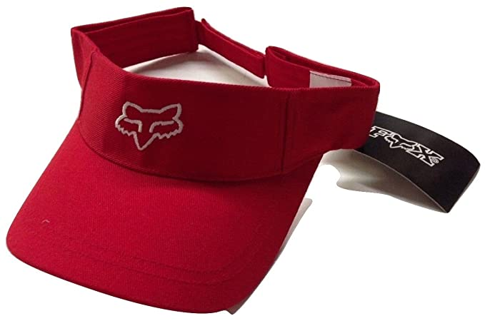 0dfad29af5a Image Unavailable. Image not available for. Color  Fox Racing New School Fox  Head Adjustable Visor Red White Cap Osfa