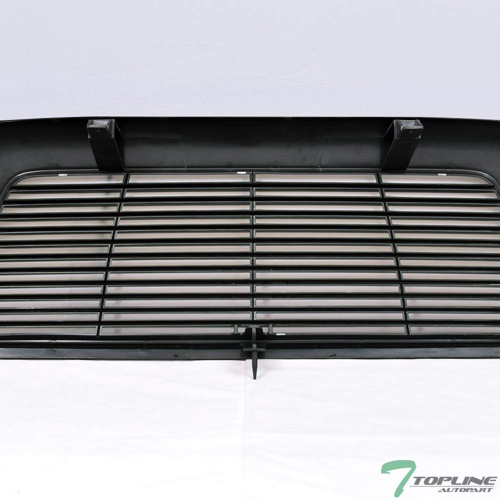 Topline Autopart Black Horizontal Billet Style Front Hood Bumper Grill Grille Cover 05-11 Tacoma