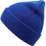Slouchy Beanie Hats Winter Knitted Caps Soft Warm Ski Hat (Royal Blue)