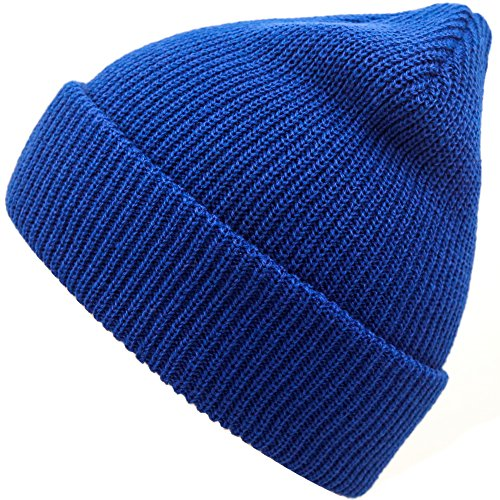 Winter Knitted Caps Soft Warm Ski Hat (Royal blue) (Royal Blue Winter Beanie)