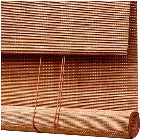 CHAXIA 竹ロールスクリーン竹はウィンドウシェードを竹すだれ竹製カーテン ローラーシャッター リビングルーム 寝室 カーテン ロープを引く リットル 2色、 複数のサイズ、 カスタマイズ可能 (Color : A, Size : 100×180cm)