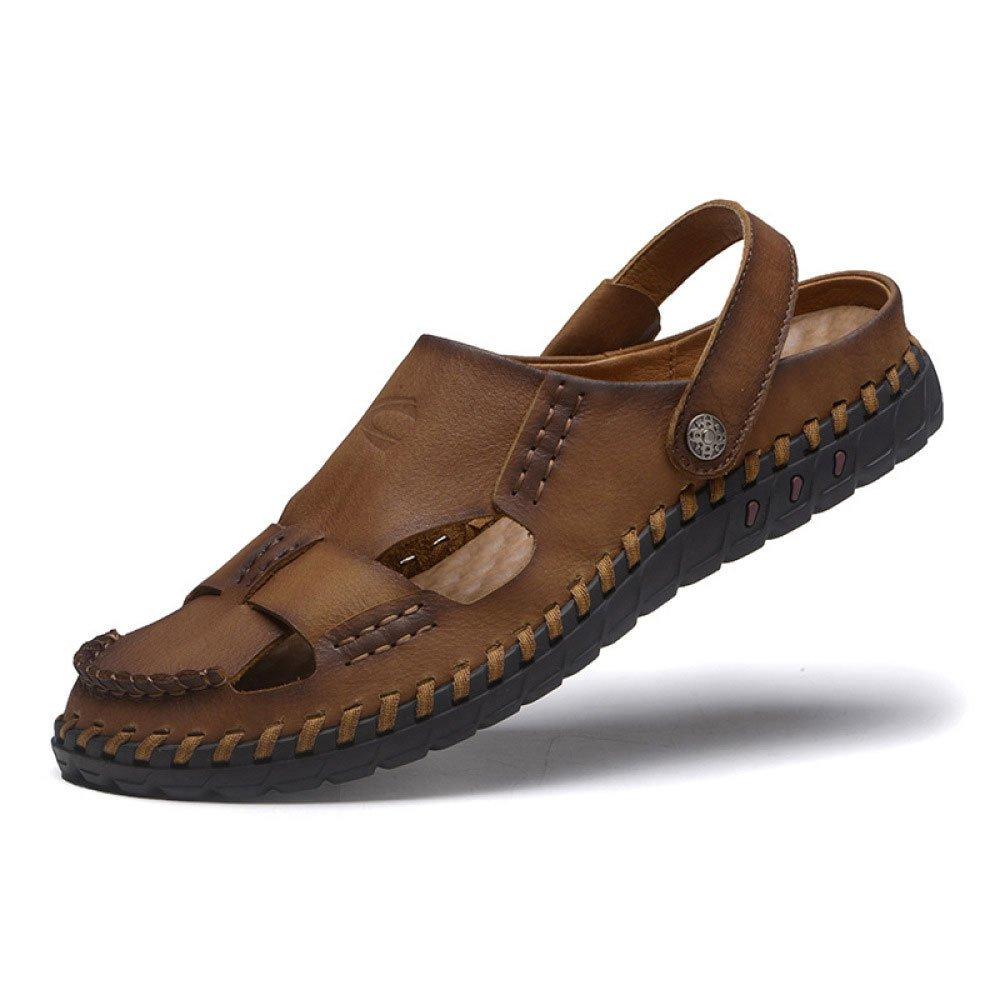 Sandalias Hechas A Mano Zapatillas De Playa Baotou Transpirables Sandalias Y Pantuflas Antideslizantes 43 EU|Khaki