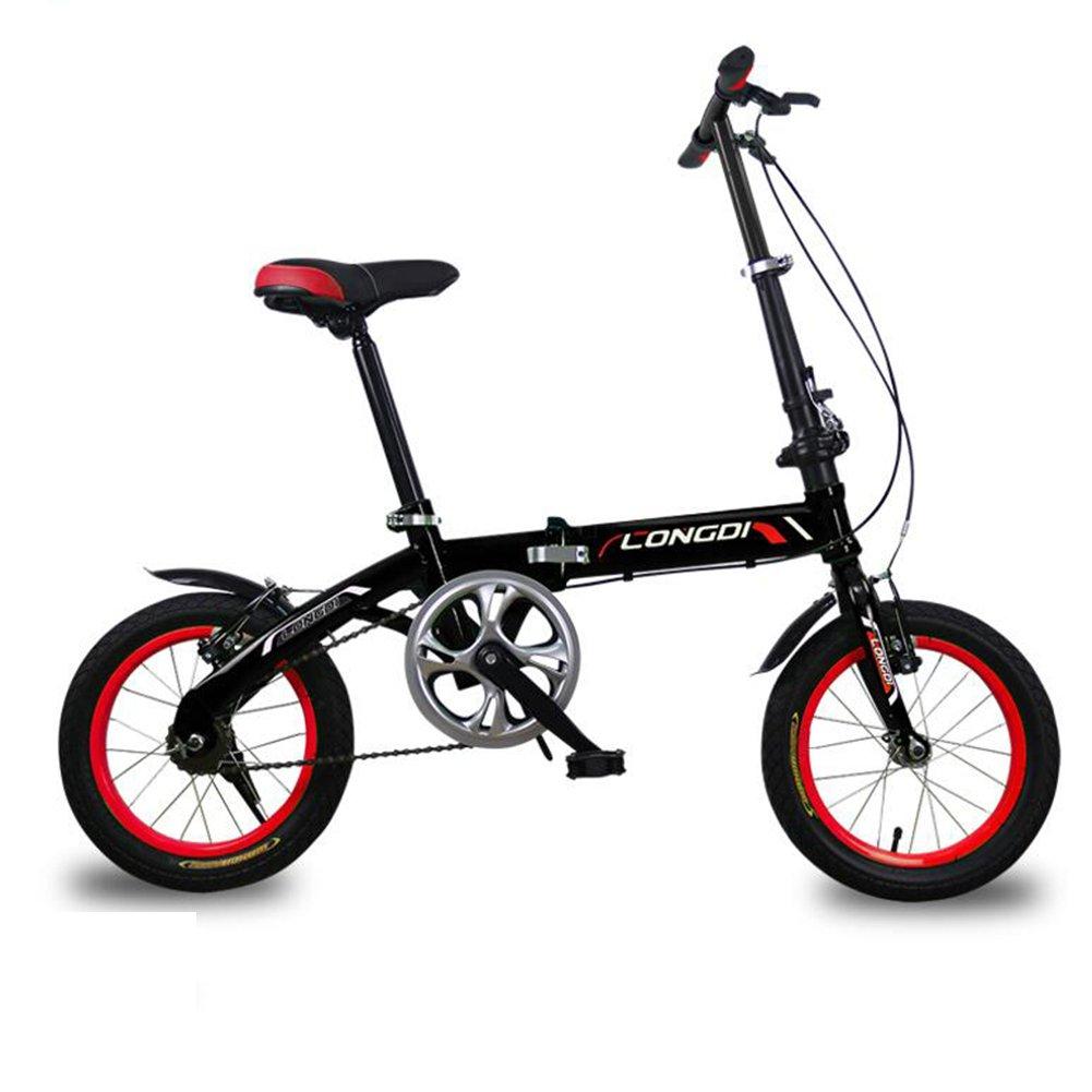 XQ 折り畳み自転車無可変速度非常に軽い男性と女性大人の子供の折りたたみ車14分の16インチの自転車 子ども用自転車 ( 色 : ブラック , サイズ さいず : 16-inch ) B07CK58Y13 16-inch|ブラック ブラック 16-inch