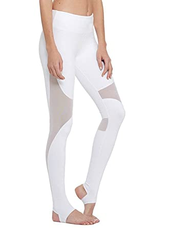 d2df875c3a686 Image Unavailable. Image not available for. Color: YIANNA Yoga Pants, Women's  Power Flex Barre Stirrup Leggings Inner Pocket Workout Running ...