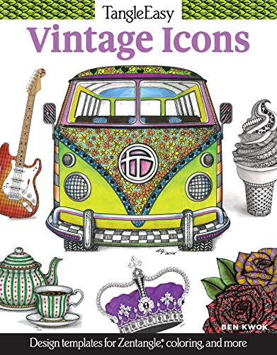 - TangleEasy Vintage Icons: Design templates for Zentangle(R), coloring, and more