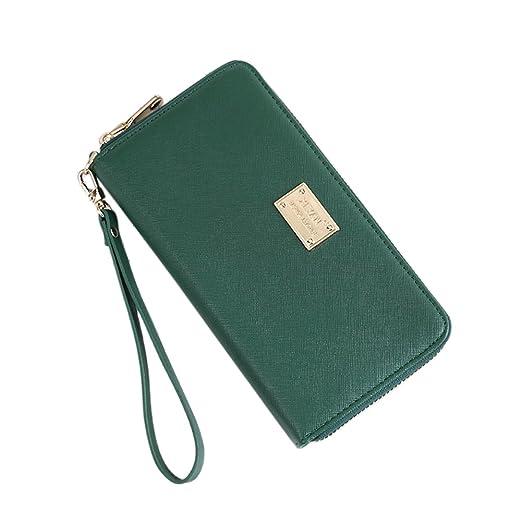 8f44a8320aa2 Connoworld - Women Trendy Faux Leather Simple Long Envelope Wallet ...