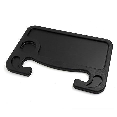 uxcell negro coche volante para ordenador portátil bandeja mesa de comer para pantalla plana soporte soporte