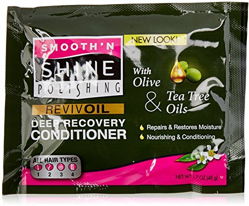 Smooth 'N Shine Olive & Tea Tree Revive Oil Deep Recovery Conditioner, 1.7 oz (Pack of 4) - Olive Tree Conditioner