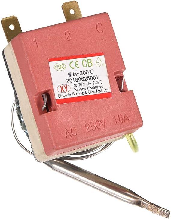 sourcingmap AC 250V 16A 100 Celsius Thermostat temp/érature r/églable pour Four /électrique