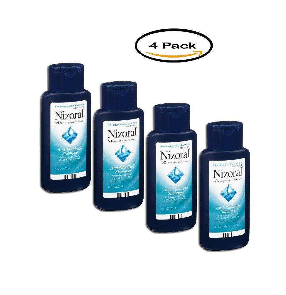 PACK OF 4 - Nizoral A-D Ketoconazole Anti-Dandruff Shampoo, 4 Oz by Nizoral