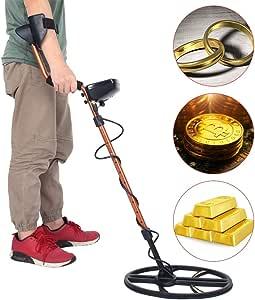 Neufday Detector de Metales, Detector de Metales portátil de Alta precisión Treasure Gold Hunting Search Tool: Amazon.es: Jardín