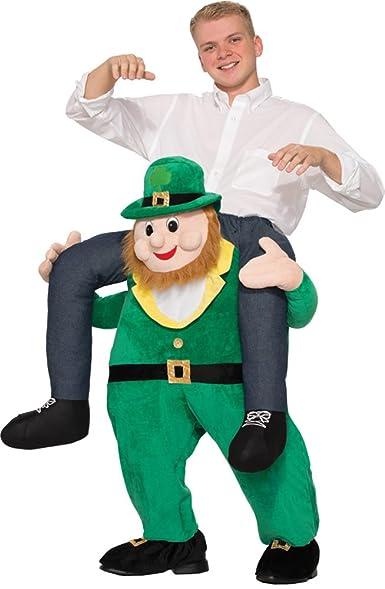 Amazon.com: UHC Men's Once Upon A Leprechaun Funny Theme Party ...