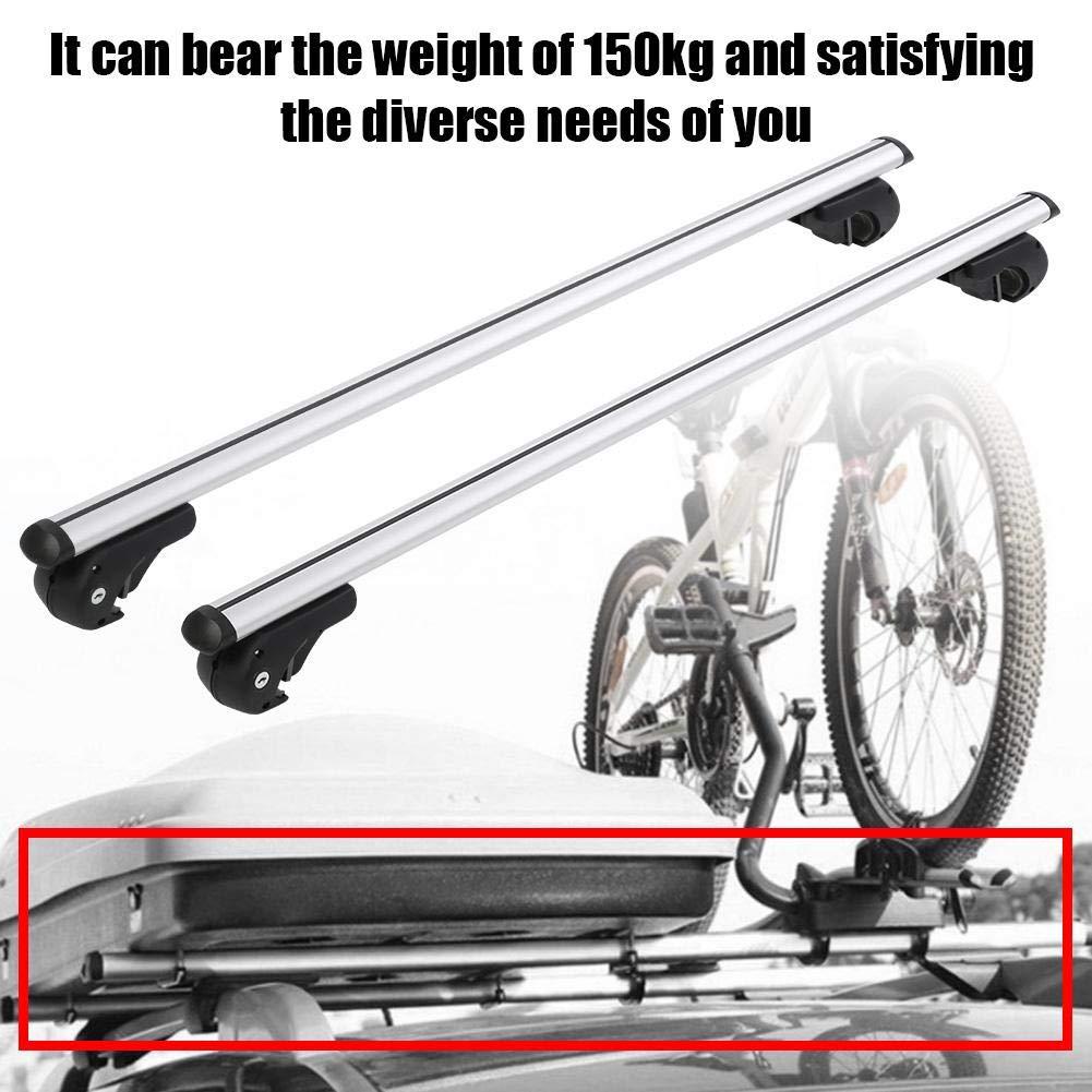 124cm Universal Aluminiumlegierung Relingtr/äger Auto Dachreling Gep/äcktr/äger 124cm//133.5cm Wahlweise GOTOTOP Dachtr/äger