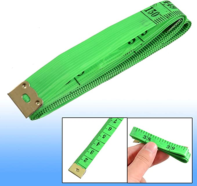 1.5m White Uxcell 45 Cun Plastic Ruler Tape Measuring Measure Tool 2 Piece