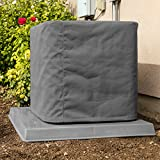 Custom Air Conditioner Cover - Made-to-Order for your exact Make & Model Number - Ultimate Sunbrella Canvas - Charcoal Gray - Made in the USA - 10-year Warranty