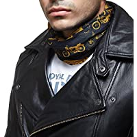 Royal Enfield BUA150002 Polyester Buff Head Wear Reflective (Black, Large)