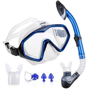 9edd023a234 Zacro Snorkel Diving Set Upgraded Anti-Fog Snorkel Mask Free Breathing Anti- Leak Dry