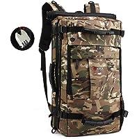 PinnacleT1 Mochila de viaje – bolsa grande de 40 litros, bolsa de senderismo, acampada, mochila impermeable para portátil de 17 pulgadas