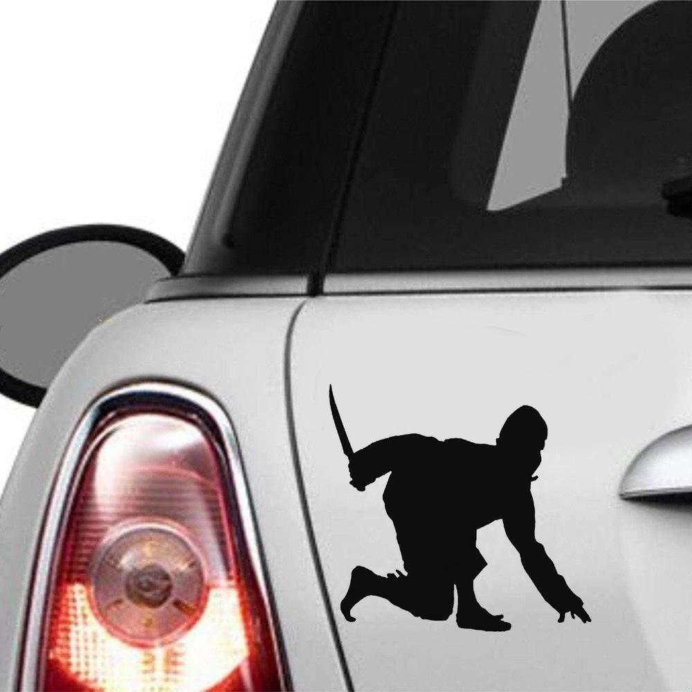 pegatinas niños coche Ninja agachado con la daga Etiqueta de ...