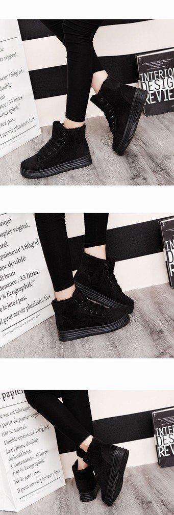 ZH Western Western Western Mode Verdickte Stiefel Niedrige Flache Vordere Spitze Frauen 'S Wildleder Stiefel 68518d