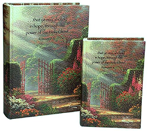 (Manual Woodworkers & Weavers Thomas Kinkade Memory Boxes, Garden of Grace, Set of 2)