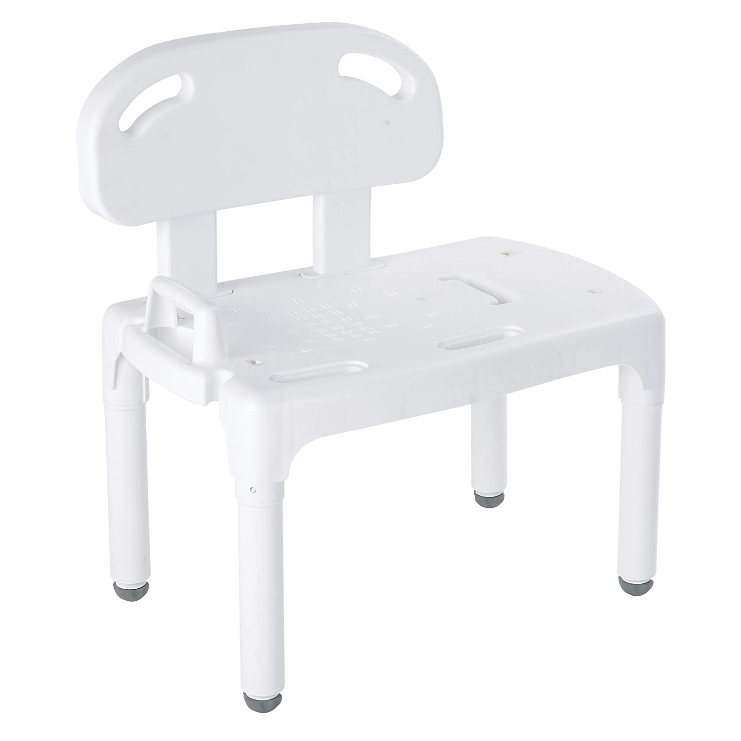 Carex Universal Transfer Bench, Bath Transfer Bench with Exact Level Adjustable Legs, Convertible to Right or Left Hand Entry   B000AEGCOO