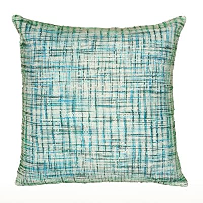 "Rizzy Home T06523 Decorative Pillow, 22""X22"", Blue - Pillow Cover with a Poly Fill Pillow Cover with Hidden Zipper Front/Back: 100% Cotton - living-room-soft-furnishings, living-room, decorative-pillows - 61t3W6xhKwL. SS400  -"
