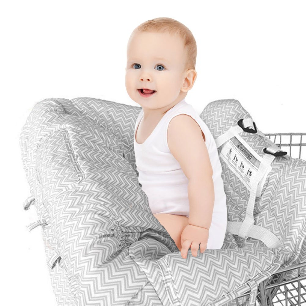 Shopping Cart Cover Toddler Great Gifts for Kids Dsaren Softer High Chair Cover Washable Shopping Trolley Cover for Baby Infants