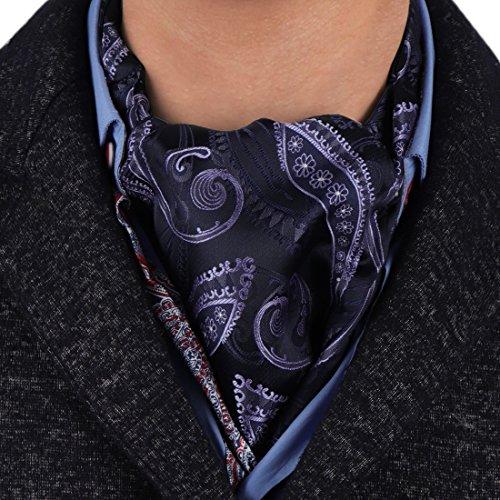 Epoint ERA7B04C Gift Certificate Goods Silk Mens Ascot Patterned Fitness Presents Idea Cravat For Comfort