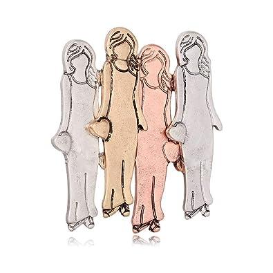Amazon.com: MANZHEN - Broche con diseño de cuatro hermanas ...