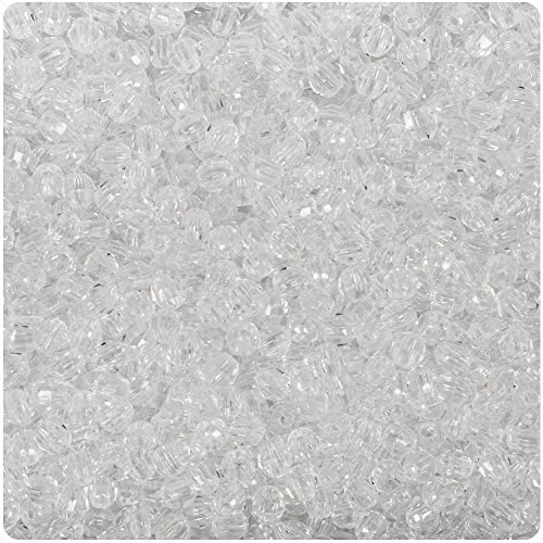 BeadTin Crystal Transparent 4mm Faceted Round Craft Beads (1250pcs)