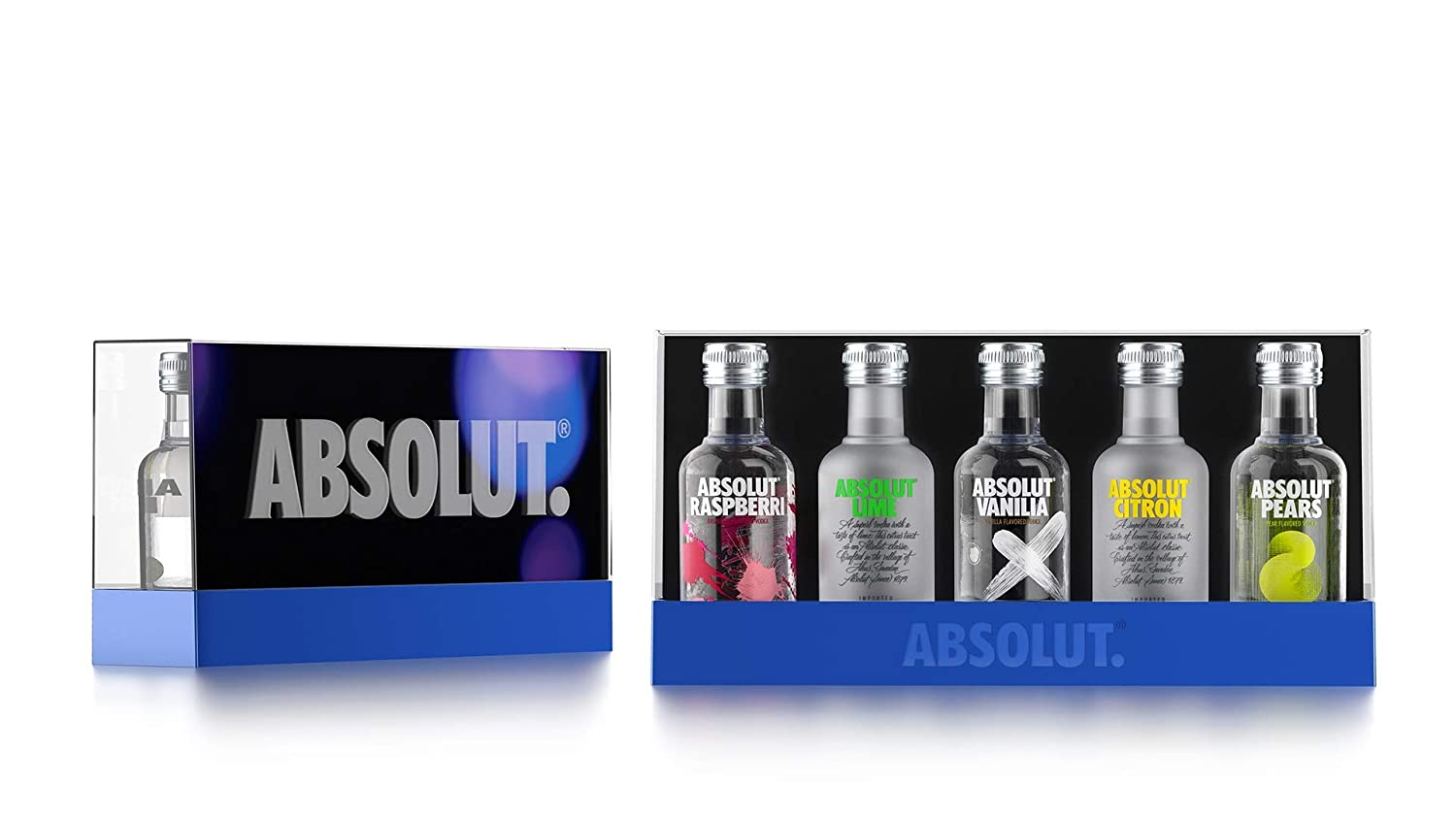 Absolut Five Vodka Set – 5er Pack Absolut Vodka Mix mit Absolut ...