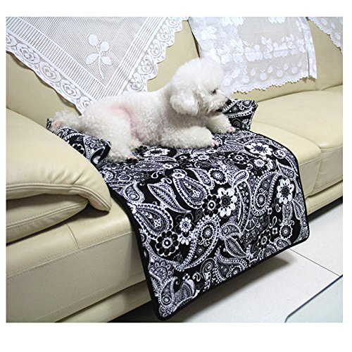 Saymequeen Flower Print Pet Mattress Dog Sofa Bed Cat Puppy Car Seat Cover 61t3YPHjkdL