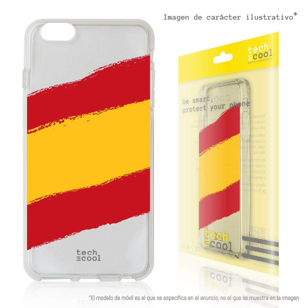 Funnytech/® Funda Silicona para Xiaomi Redmi 6 //Xiaomi Redmi 6A Bandera Espa/ña Orgulloso Gel Silicona Flexible, Dise/ño Exclusivo