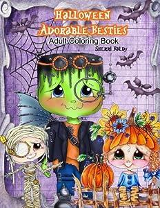 Halloween Adorable Besties Adult Coloring Book