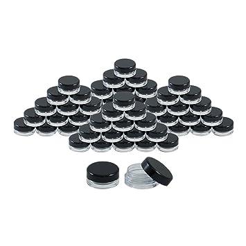 Amazon.com : Houseables 3 Gram Jar, 3 ML Jar, 50 pcs, BPA Free ...
