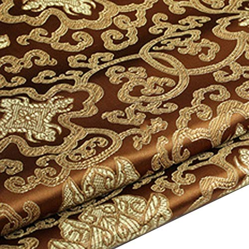 Chinese Embroidery Flower Brocade Silky Satin Fabric for Sheet Quilting 1 Meter 10 Color ()