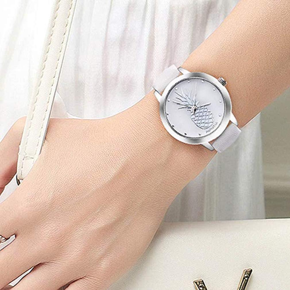 Promoción Últimas Mujeres Relojes de Cuarzo piña Relojes para ...