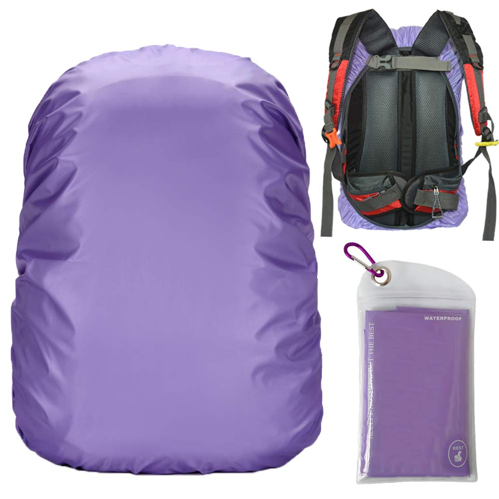 Gryps Waterproof Backpack Rain Cover with Adjustable Anti Slip Buckle Strap & Sliver Coating Reinforced Inner Layer for Camping, Hiking, Traveling, Hunting, Biking and More, 30-40L(Purple) by Gryps