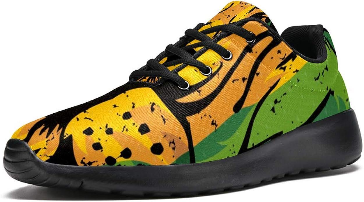 TIZORAX Zapatillas de running para hombre Lion Rasta Fashion Zapatillas de deporte de malla transpirable caminata senderismo tenis zapatos de tenis talla 4,5: Amazon.es: Zapatos y complementos