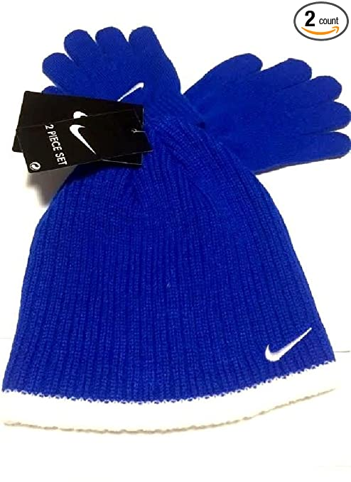 4115d0bb380 Amazon.com   NIKE Boys Rib Knit Hat and Glove Set Size   Toddler 4 7 ...