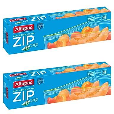 Alfapac - Bolsas de congelación, grande, biodegradable, pack ...